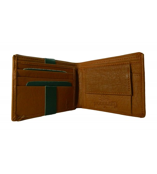 Woodland Wallet with Coin Pocket, Sleek Design, Card Pocket, Tan Color